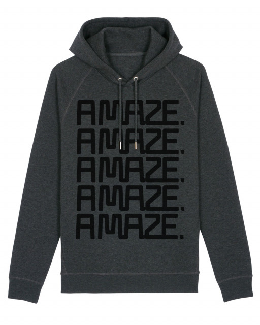 A MAZE. Logo Sweatshirt Hooded - Dark Heather Grey | A MAZE. Shop