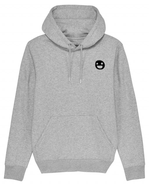 A MAZE. Small Face Stick Hooded Sweatshirt - Heather Grey | A MAZE. Shop