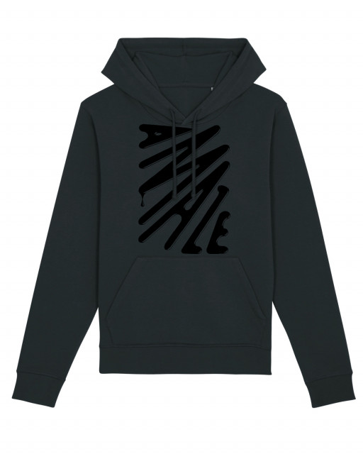 A MAZE. Logo Type Hooded Sweatshirt - Anthracite | A MAZE. Shop